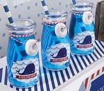 Personalized Milk Jar - Nautical Birthday Collection (Set of 12)